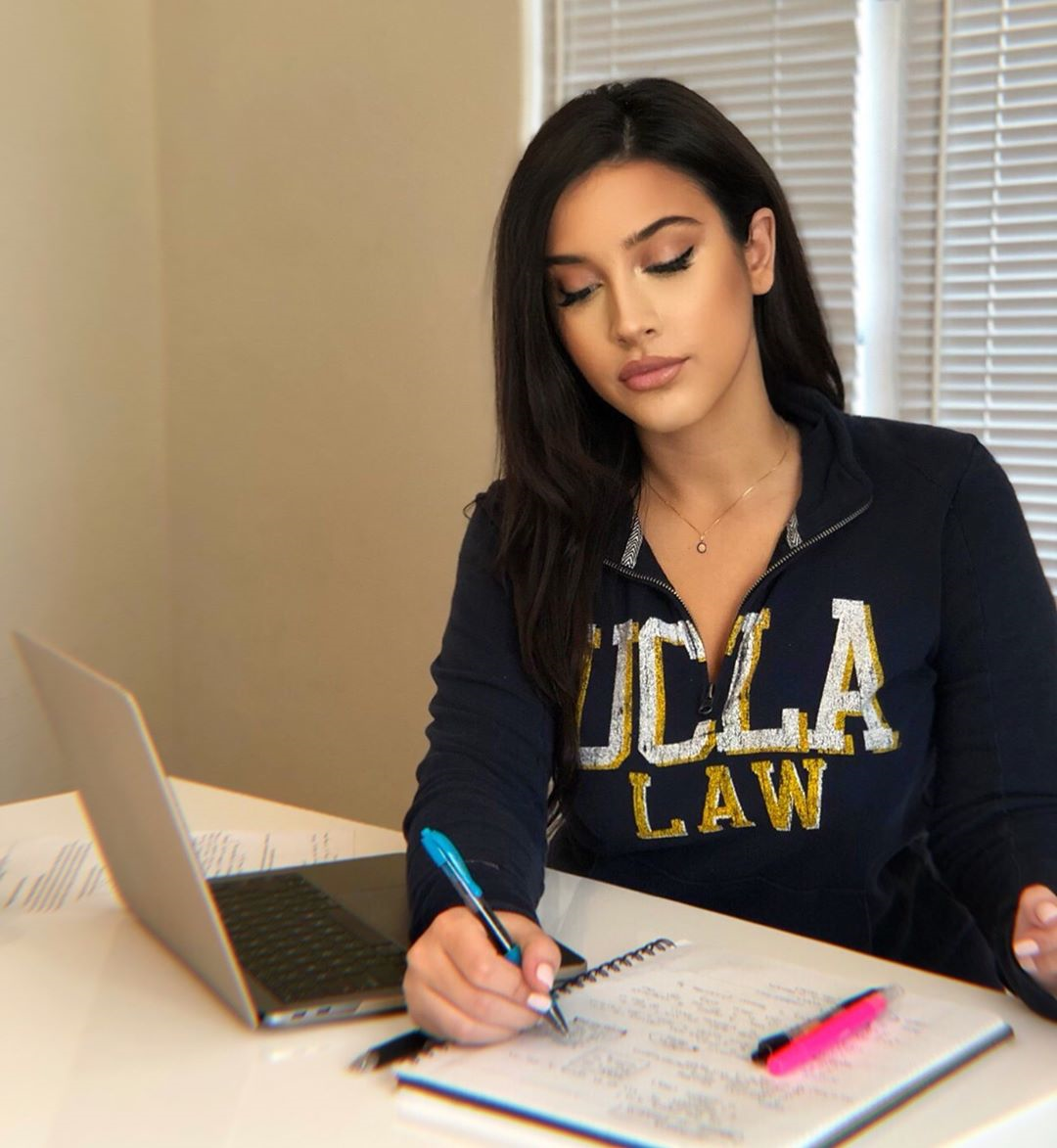 Dellara in UCLA sweater