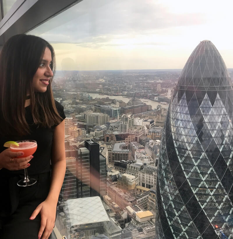 Mehar Sindhu Batra travelling as an MBA student with good work life balance