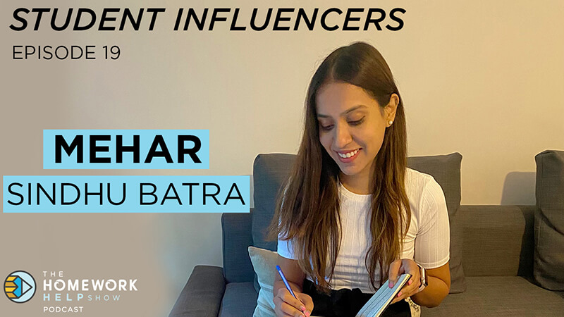 Mehar Sindhu Batra sharing career advice on our Student Influencers Podcast